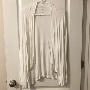 I.N.C. White open front ribbed cardigan